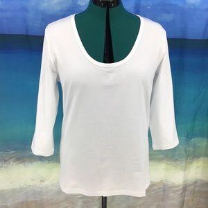 Yest Yara Basic Cotton Jersey 3/4 Sleeve Tee, 14